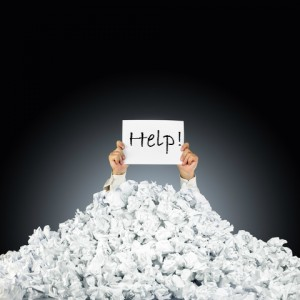 Help-Sign-Pile-Paper