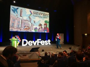 Photo ouverture du devfest.